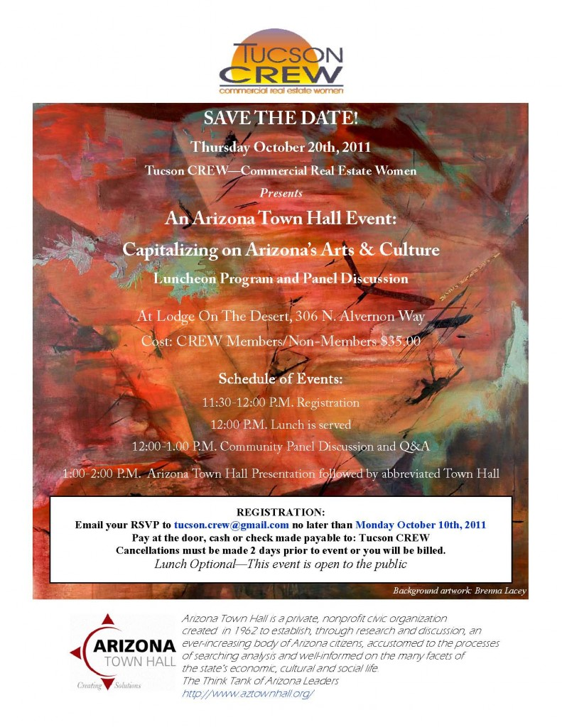 Tucson CREW Town Hall program Capitalizing on Arizona's Arts & Culture